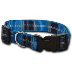 Nylon kutyanyakörv – kék kockás 1 x 20 - 32 cm