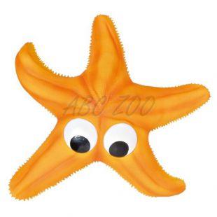 Kutya játék - latex tengeri csillag, sárga