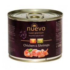 NUEVO CAT Adult Chicken & Shrimps konzerv 200 g