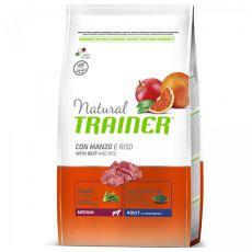 Trainer Natural Adult Medium, marhahús és rizs 3 kg