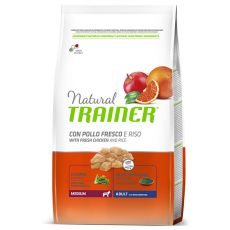 Trainer Natural Adult Medium, csirkehús és rizs 3 kg
