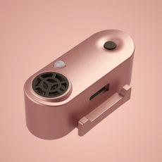 TICKLESS MINI újratölthető ultrahangos rovarriasztó kis termetű kutyák számára –rózsaszín-arany szín
