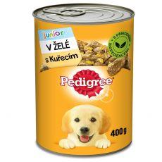 Pedigree konzerv csirkével zselében, kölyökkutyák számára 400g