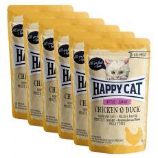 Happy Cat ALL MEAT Kitten Junior alutasakos eledel Chicken & Duck 6 x 85 g