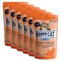 Happy Cat ALL MEAT Adult alutasakos eledel Turkey & Pollack 6 x 85 g