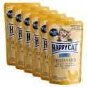 Happy Cat ALL MEAT Adult alutasakos eledel Chicken & Duck 6 x 85 g