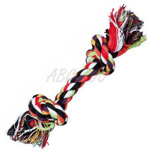 Rágójáték kutyának - pamut kötél csomóval, 20 cm