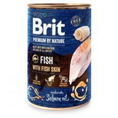 Brit prémium a Nature –től, Hal és halbőr konzerv 400 g