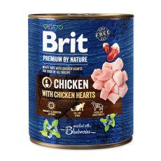 Brit prémium a Nature –től Csirke és szív konzerv 800 g