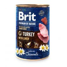 Brit prémium a Nature –től, Pulyka és máj konzerv 400 g