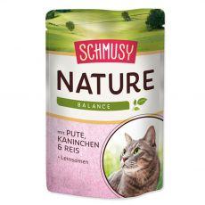 Schmusy Nature pulyka és nyúl zacskós 100 g