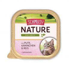 Schmusy Nature pulyka és nyúl tálcás eledel 100 g