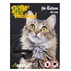 Dr.Pet féregtelenítő gallér macskák részére FEKETE 43 cm