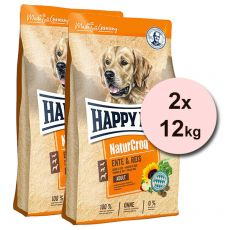 Happy Dog NaturCroq ENTE & REIS 2 x 12 kg
