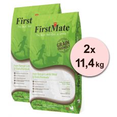 FirstMate Dog Free Range Lamb & Oats 2 x 11,40 kg