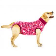Műtét utáni védőruházat kutyák számára M terepszínű rózsaszín