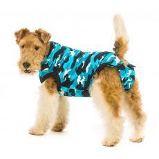 Műtét utáni védőruházat kutyák számára L terepszínű kék
