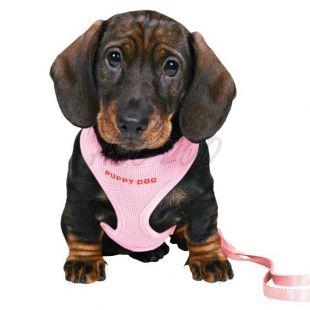 Kutyus hám és póráz - rózsaszín