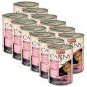 CARNY ADULT konzerv marhahússal, pulykahússal és garnelarákkal 12 x 400 g