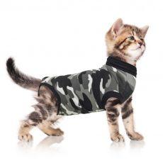 Műtét utáni védőruházat macskák számára S terepszínű