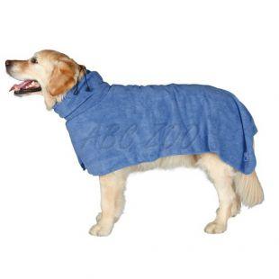 Fürdőköpeny kutyáknak- kék - 50cm