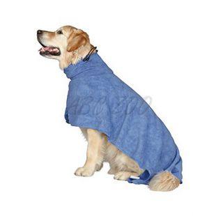Fürdőköpeny kutyáknak - kék - 40cm