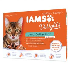 Iams Cat Multibox szárazföldi hús csomagok 12 x 85 g