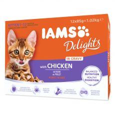 Iams Kitten Multibox csirke csomagok 12 x 85 g