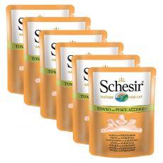 Schesir macskaeledel - Tonhal és szardínia húslevesben 6 x 70 g