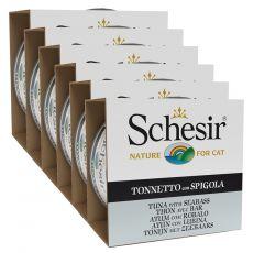 Schesir macskaeledel - Tonhal és tengeri sügér aszpikban 6 x 85 g