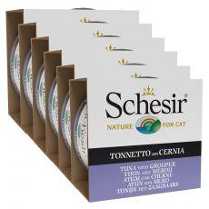Schesir macskaeledel - Tonhal és fűrészes sügér aszpikban 6 x 85 g