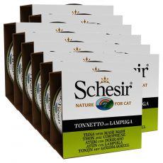 Schesir macskaeledel - Tonhal és aranydurbincs aszpikban 12 x 85 g