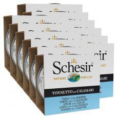 Schesir macskaeledel - Tonhal és tintahal aszpikban 12 x 85 g