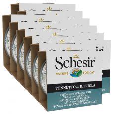 Schesir macskaeledel - Tonhal és lepényhal aszpikban 12 x 85 g
