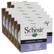 Schesir macskaeledel - Tonhal és fűrészes sügér aszpikban 12 x 85 g
