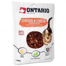 Ontario Macska csirke és sajt falatok 50 g