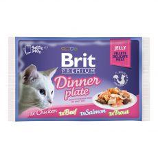 BRIT Premium Cat Dinner Plate in Jelly  tin 4 x 85 g konzerv