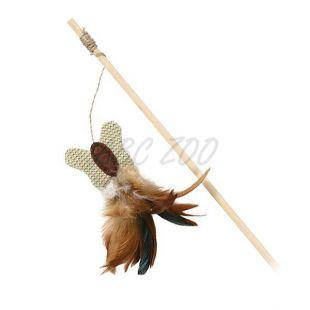 Játék cicáknak - fa rúd pillangóval