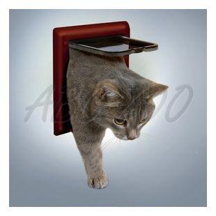 Ajtó macskáknak, 2 funkcióval - barna