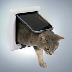 Négy funkciós ajtó macskának - fehér