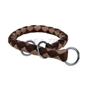 Kutya részére szabályozó nyakörv, barna - S - M, 35 - 41 cm