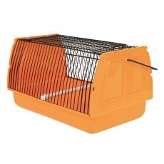 Hordozható doboz madaraknak - fém ráccsal - 30 x 18 x 20 cm