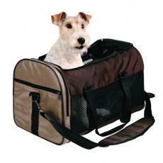 Szállítható kutya- és macskatáska - barna, 31 x 32 x 52 cm