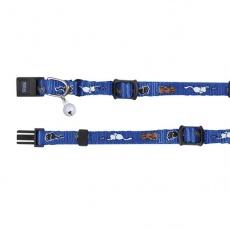 Nyakörv cicának motívummal, kék - 15 - 20 cm