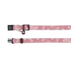 Nyakörv macskáknak, rózsaszín - koponyák - 15 - 20 cm
