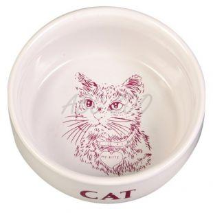 Tál cicának, kerámia, mintával - 0,3 l