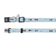 Cica mintás macska nyakörv, kék - 18 - 30 cm