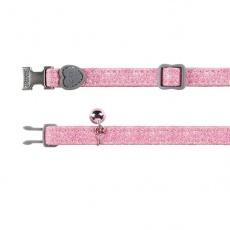 Macska nyakörv, rózsaszín csillámporos - 18 - 30 cm