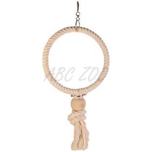 Madárjáték - kötél karika, 19 cm