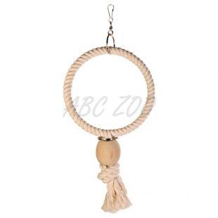 Madárjáték - kötél karika, gyöngy, 24 cm